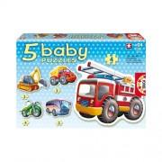 Educa Járművek bébi puzzle, 5 az 1-ben