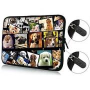 FBAps14-003 NEW Art design cute dogs 13.5 13.6 14 14.2 14.4 inch soft NEOPRENE Notebook Laptop Sleeve bag Case Cove