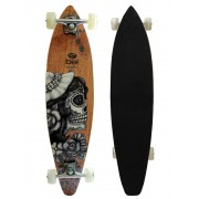 Skate Longboard Bel Sports Caveira Feminina 95 cm ABEC-5 - 465700