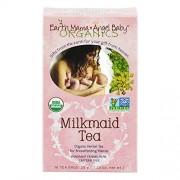 Earth Mama Angel Baby - Tè Milkmaid, adatto durante l'allattamento, 3 confezioni (3 x 35 g), biologico