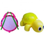 Combo Of Flash Drum Mini Tortoise For Kids