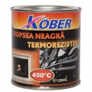 Vopsea KOBER termorezistenta neagra 0,25L