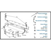 Scut metalic motor VOLKSWAGEN Pointer - Motorizare 1,0 B (2004-)
