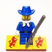 "Minifigure Packs: Lego Western Cowboys Bundle ""(1) Cavalry Colonel Colt Carson"" ""(1) Figure Display Base"" ""(1) Figure Accessories"""