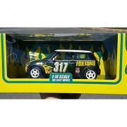 RARE! Anson Racing FOXTONS MINI COOPER RALLY Car (Drk Green w/White Top) 1:18 Scale