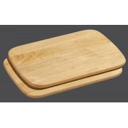 2 Planchette en bois couleur naturelle - 28 x 20 cm