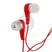 Fülhallgató piros 52033