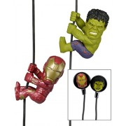 Neca Scalers Avengers Age Of Ultron: Iron Man And Hulk Mini Figura Set With Earbuds