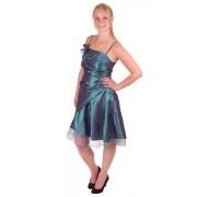Korte jurk zeegroen met overslag-40