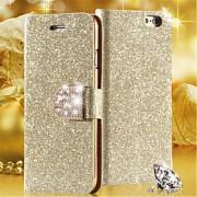 luxo brilhante diamante estojo de couro pu com capinha de telefone celular que brilha fivela segura para iPhone 4 / 4S