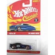 Classics Series 3 -#30 '06 Dodge Viper Blue 5-Spoke Redlines Collectible Collector Car Mattel Hot Wheels by Hot Wheels