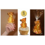 Disney Lion King Figural Rubber Finger Puppet Toy, Party Decoration, Favor, Cake Topper - Licensed - Wholesale Bulk Pack of 6