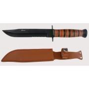 Cuchillo táctico con hoja negra de 17,8 cms.