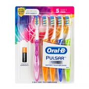ORAL B PULSAR BATTERY TOOTHBRUSH (Soft) 4 Pack