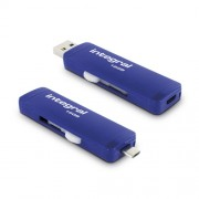 Stick USB 16GB Slide OTG Micro USB to USB 3.0 Albastru Integral