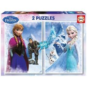 Educa 16280 - Frozen - 2 x 500 pieces - Disney Family Puzzle by Educa