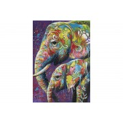 Canvastavla Två Elefanter 90x120 -