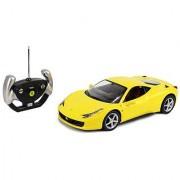 (Yellow) Licensed 1/14 Scale Ferrari 458 Italia Radio Remote Control Sport Car RC RTR