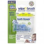 Baby Buddy Blue Wipe and Brush with Tooth Tissues