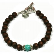 Heaven Eleven heren armband Wood Dark Brown