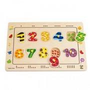 Jucarie eco din lemn Puzzle cu numere Hape