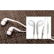 Casti Handsfree In-Ear Alb Audio Stereo cu Microfon , Jack 3.5