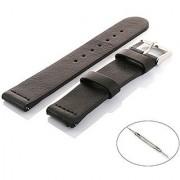 VIMVIP 20mm Genuine leather Band Strap for Motorola Moto 360 2nd Gen Smart Watch 42mm Samsung Gear S2 Classic (Black)