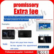 Special link Extra fee for Cosinetech home security GSM PSTN WIFI alarm system,appointed cost,promissory fee for our products
