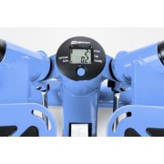 Hop-Sport Mini Swing Side Stepper Widerstand inkl. Trainingsbänder Computer Blau
