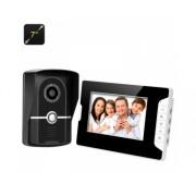 Video Door Phone + moniteur - écran 7 pouces TFT, 700TVL, commande de porte électrique, Two Way Audio