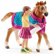 Schleich Unisex Figurines and playsets White Foal with blanket