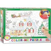 EuroGraphics Santa's Sleigh Color Me Puzzle (100 Pieces)