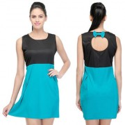 Klick2Style Plain Bow A Line Dress For Women