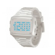 LED LED-WE-STP Unisex Digital White Dial And Pu Strap Watch