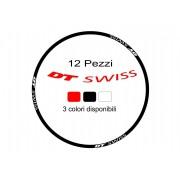 Adesivi cerchi bici dt swiss 26 - 27,5 - 28 - 29 stickers wheel 12 pz