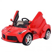 PA Toys - Rastar 12V Licensed Ferrari LaFerrari Kids Electric Ride On Car with MP3 and Remote Control - Red