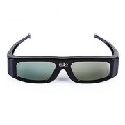 SainSonic GX-30 3D Glasses Active Shutter 144Hz Rechargeable for Universal DLP-Link Ready Projectors BenQ Optoma Dell Mitsubishi Samsung Acer Vivitek NEC Sharp ViewSonic - Black
