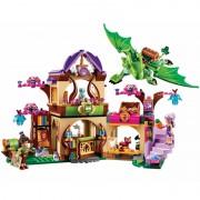 Bela 694Pcs 10504 Friend Elves The Secret Market Place Model Building Kit Blocks Girl Toys For Children 41176