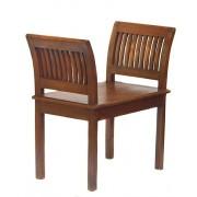 Krzesło kolonialne z drewna teakowego Indonezja