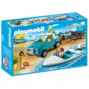 Playmobil Summer Fun Surfer Pickup with Speedboat with Underwater Motor (6864)