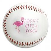 I Dont Give A Flock Flamingo Animal Lover Size 9 Safety Soft Baseballs Bullet Ball Training Ball White