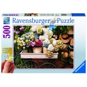 Ravensburger puzzle flori si palarii, 500 piese