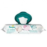 Pampers Sensitive Wipes Travel Pack 56 Count (Pack of 3)