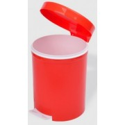 Cos gunoi cu pedala 5 litri rosu