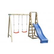 Steiner Shopping (ZA) Holzschaukel für Kinder mit Rutsche
