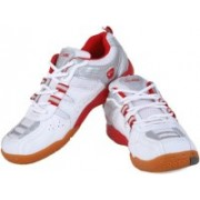 Proase Badminton Shoes(White, Red)