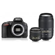 Nikon d5500 + 18-55mm vr ii + 55-300mm vr - nero - manuale in italiano