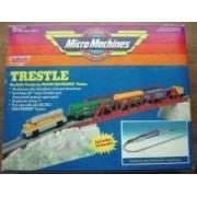 Micro Machines Power Sound Trains Steam Train With Trestle