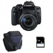 CANON EOS 750D + 18-135 IS STM + Sac + SD 4Go