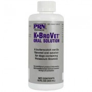 K-BroVet Potassium Bromide Oral Solution 250 mg/ml 300 ml by PRN PHARMACAL